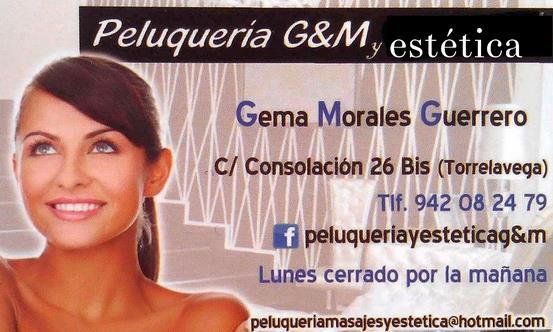 Peluquería y estética G&M, calle Consolación 26, Torrelavega.
