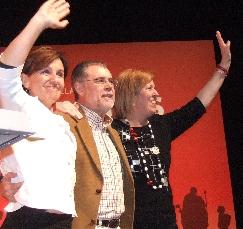 Mítin del PSOE en el Teatro Concha Espina