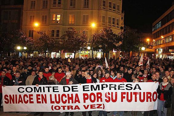 Manifestación trabajadores SNIACE