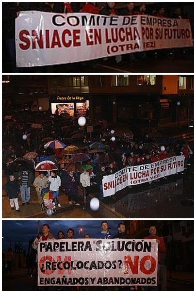 Manifestación Sniace Torrelavega
