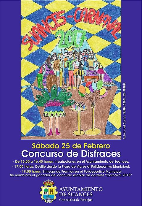 Suances celebrará el sábado por la tarde el tradicional Concurso de Disfraces de Carnaval