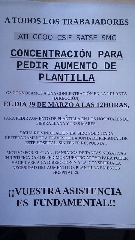 Organizada una concentración en Sierrallana para pedir aumento de plantilla