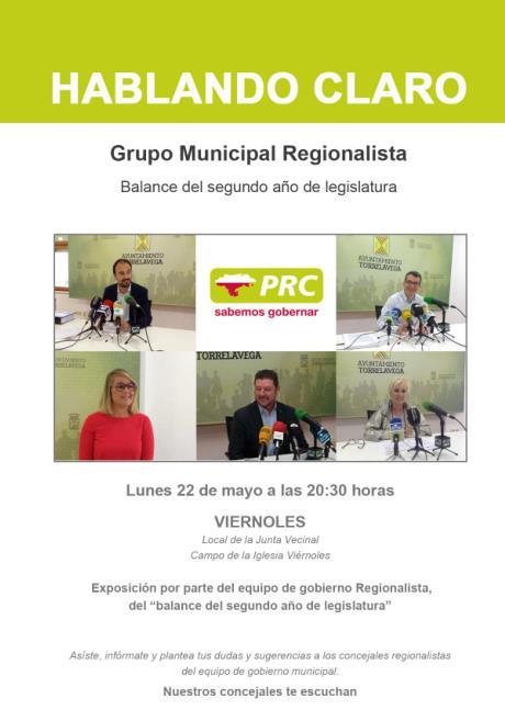 """El PRC de Torrelavega rinde cuentas con sus charlas """"Hablando claro"""""""