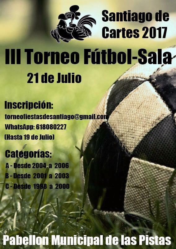 Santiago de Cartes acogerá el III Torneo de Fútbol Sala