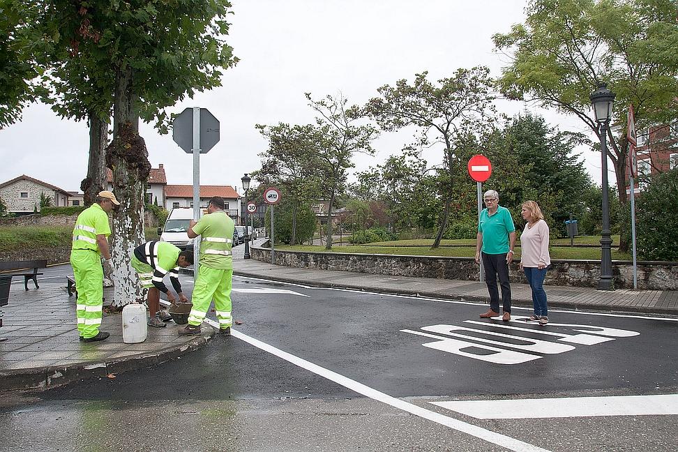 Completada la primera fase de reordenación viaria en el centro de Polanco