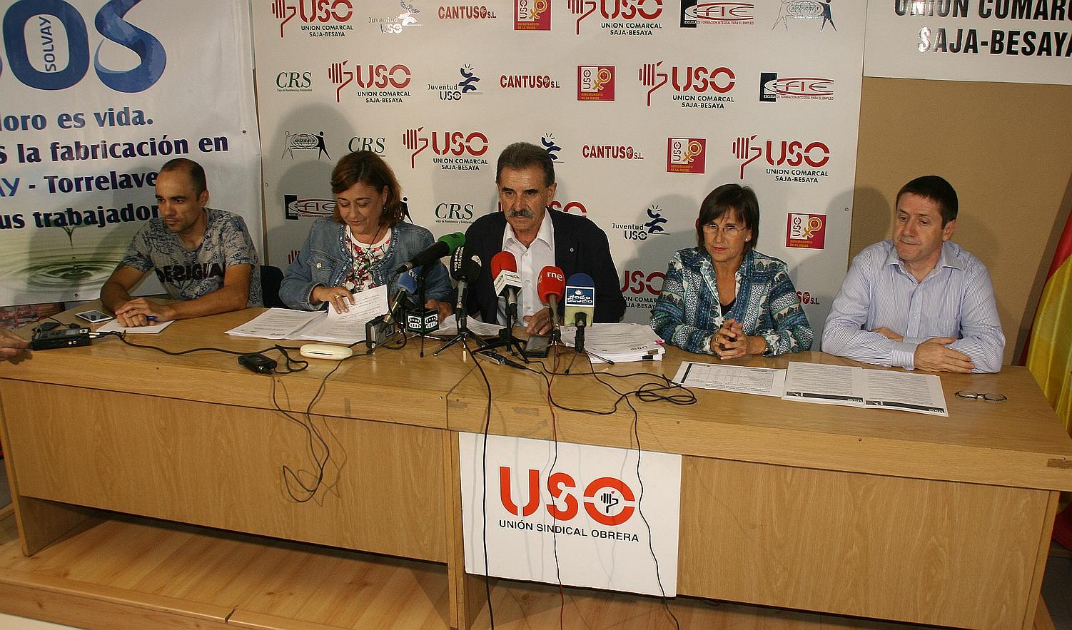USO rechaza cualquier intento de Solvay de enviar trabajadores al desempleo