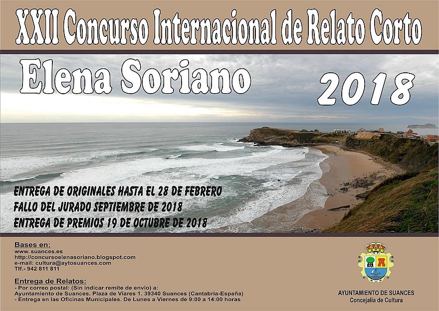 Convocada una nueva edición del Concurso Internacional de Relato Corto Elena Soriano