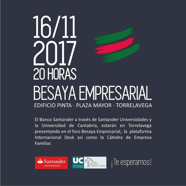 Santander Universidades y la Universidad de Cantabria presentarán proyectos en el foro Besaya Empresarial