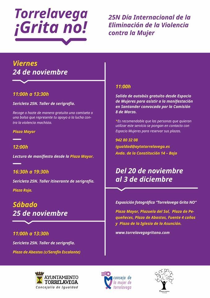 Torrelavega organiza múltiples actos contra la Violencia de Género