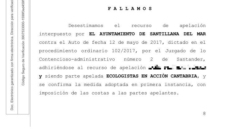 El juzgado confirma la paralización cautelar de la nave de alpacas en Ubiarco