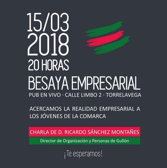 Besaya Empresarial organiza una nueva charla con un alto cargo de Galletas Gullón
