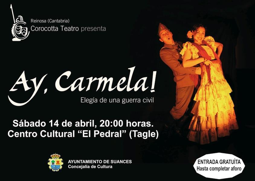 """""""Ay, Carmela"""" llega este sábado a Tagle de la mano de Corocotta Teatro"""