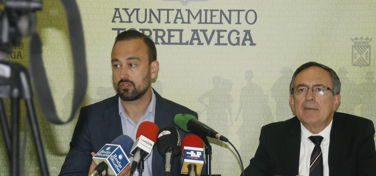 Javier López Estrada y José Manuel Cruz Viadero (C) ESTORRELAVEGA