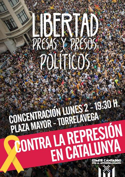 """Convocada una concentración contra la """"represión"""" en Cataluña"""