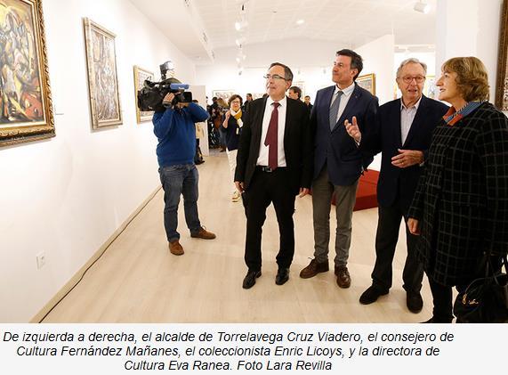 La Casa de Cultura de Torrelavega acoge desde hoy la colección museística de la obra de Eduardo Pisano