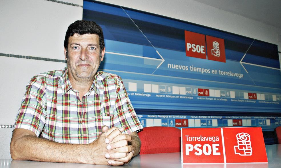 Bernardo Bustillo, Secretario General del PSOE de Torrelavega, en una imagen de archivo