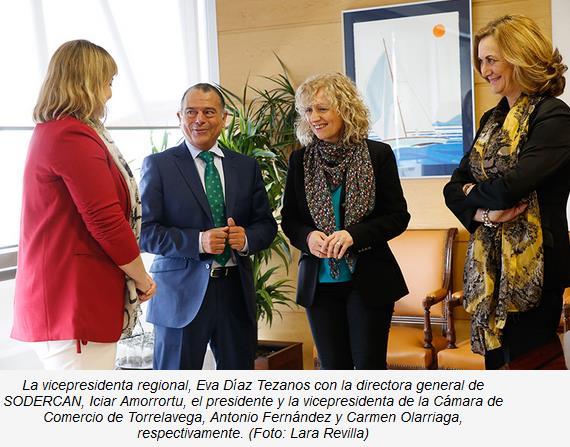 SODERCAN y Cámara de Comercio de Torrelavega impulsarán la formación de emprendedores en la comarca del Besaya