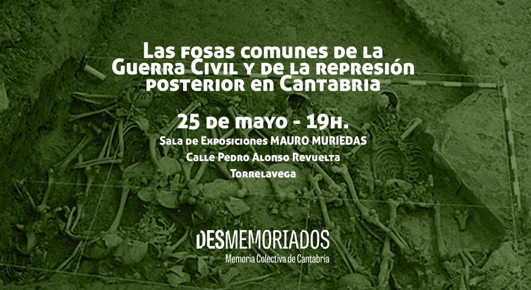 La asociación 'Desmemoriados' se presenta en Torrelavega con una charla sobre las Fosas Comunes de la Guerra Civil y la represión franquista en Cantabria