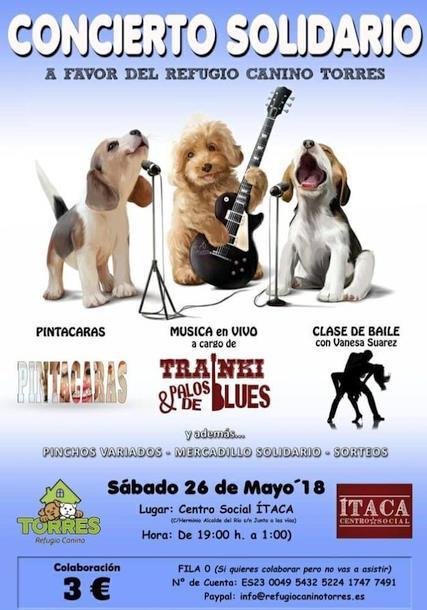 El Centro Social Ítaca de Torrelavega acogerá un concierto solidario para el Refugio Canino de Torres