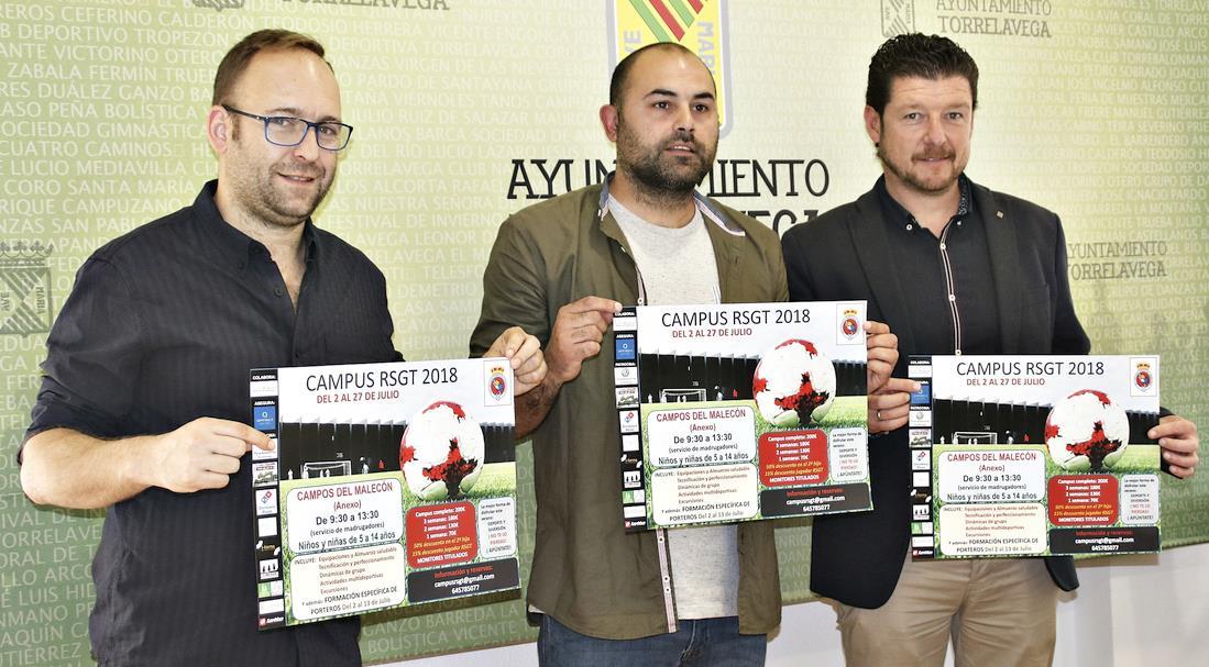 Presentado el Campus Gimnástica 2018 que tendrá lugar del 2 al 27 de julio - Tomás Bustamante, Roberto Ricciardiello y Jesús Sánchez