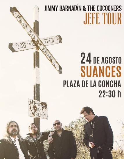 Suances acoge este viernes la actuación de Jimmy Barnatán and The Cocooners