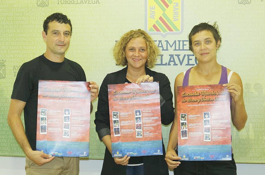 Hasta el 28 de septiembre siguen abiertas las inscripciones de la Escuela de Circo y Teatro Físico de Torrelavega - Javier Amigo, Patricia Portilla, Elena Umlauff