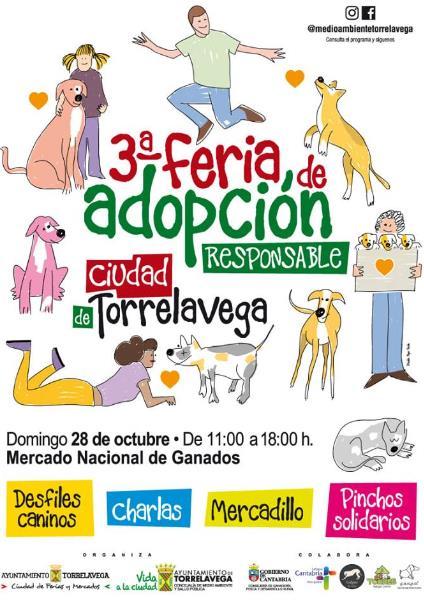La III Feria de Adopción Ciudad de Torrelavega se celebrará este domingo en el Mercado Nacional de Ganados