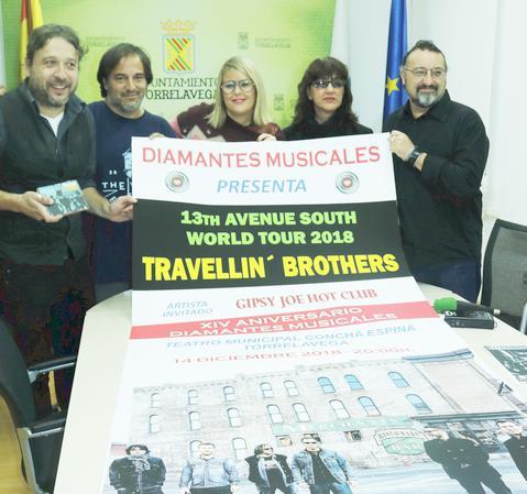 Travellin Brothers será el grupo estrella del concierto del XIV Aniversario de Diamantes Musicales