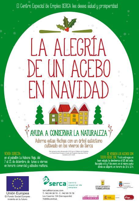 El próximo viernes comienza la venta de acebos para Navidad del Centro Especial de Empleo SERCA