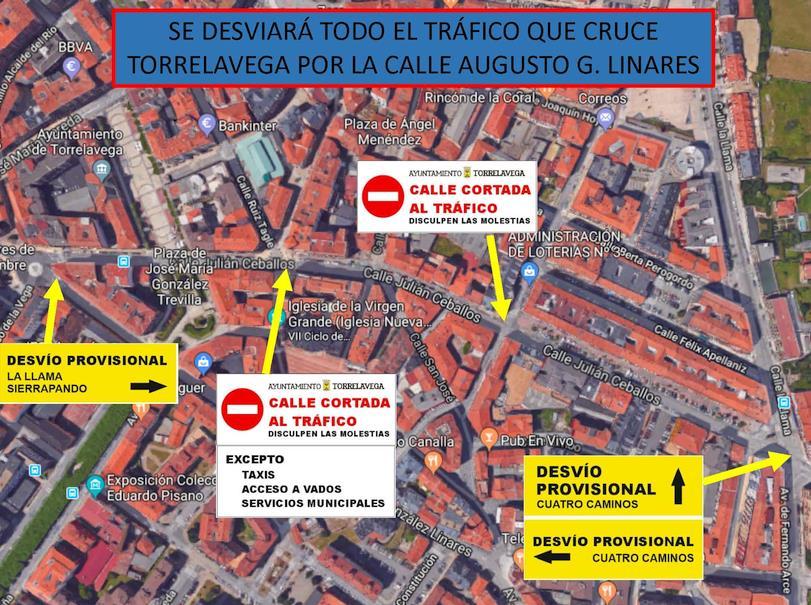 Una parte de la calle Julián Ceballos será 'zona peatonal' los próximos días 25 y 30 de diciembre y 1 de enero