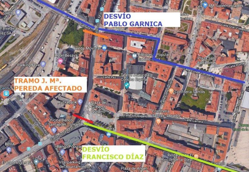 El miércoles, cortes de tráfico en un tramo de José María de Pereda