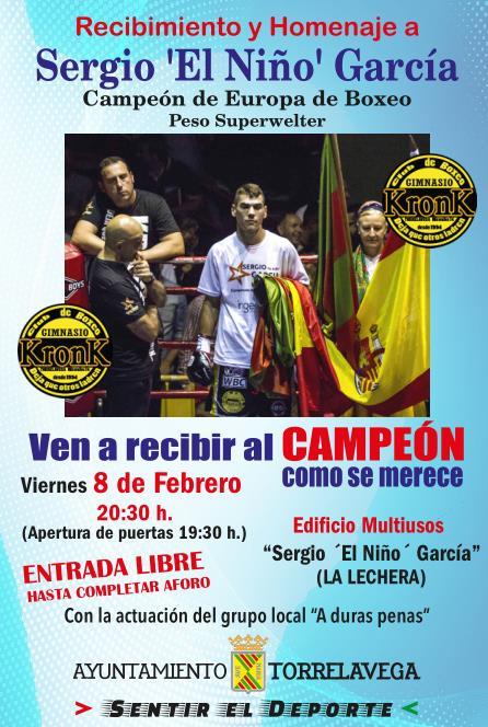 El Ayuntamiento organiza un homenaje al boxeador Sergio García