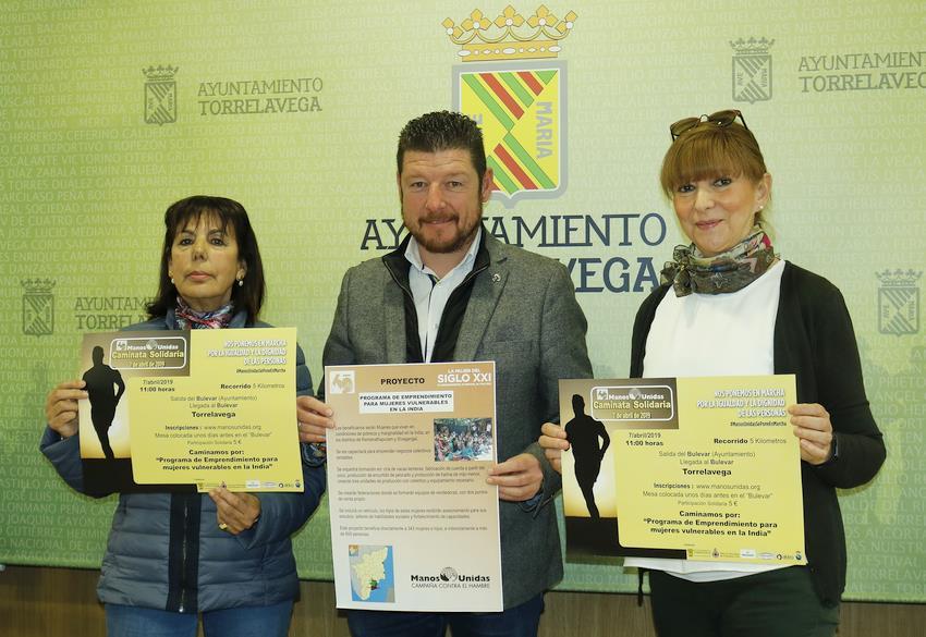 Torrelavega acogerá el 7 de abril una marcha solidaria de Manos Unidas
