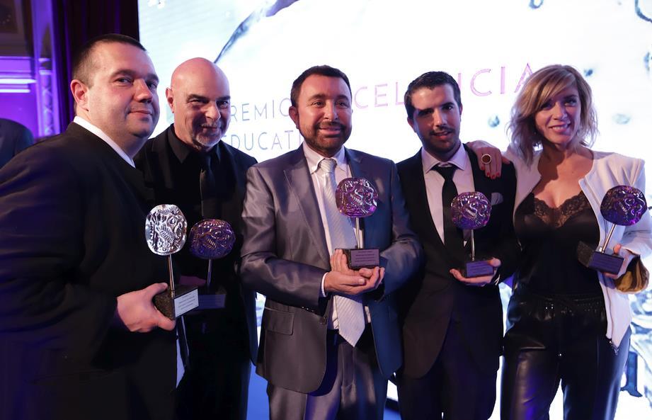 -En la imagen, de izquierda a derecha Alfonso Solares, Guido González Velasco, José Manuel Parada, Roberto Barriuso y Eva Isanta