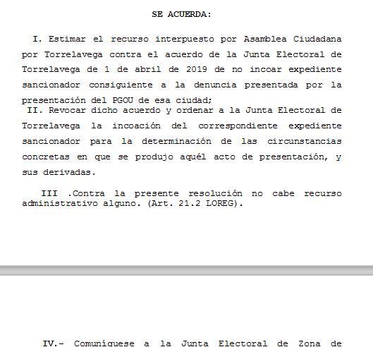 La Junta Electoral Provincial abre un expediente por el acto de presentación del PGOU