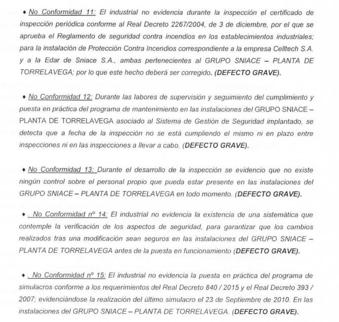 La formación verde Ecologistas en Acción reprocha a Sniace las faltas graves detectadas por los inspectores