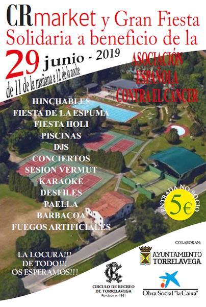 Este sábado, el Círculo de Recreo organiza el CRMarket y Gran Fiesta solidaria a beneficio de la AECC