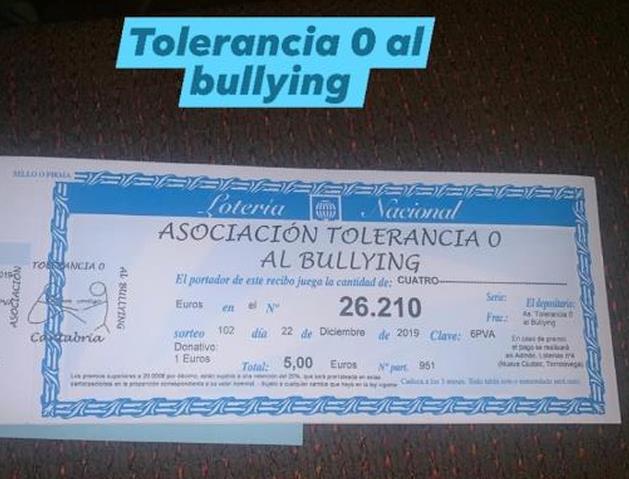 La Asociación Tolerancia 0 al Bullying pone a la venta sus participaciones de lotería de Navidad
