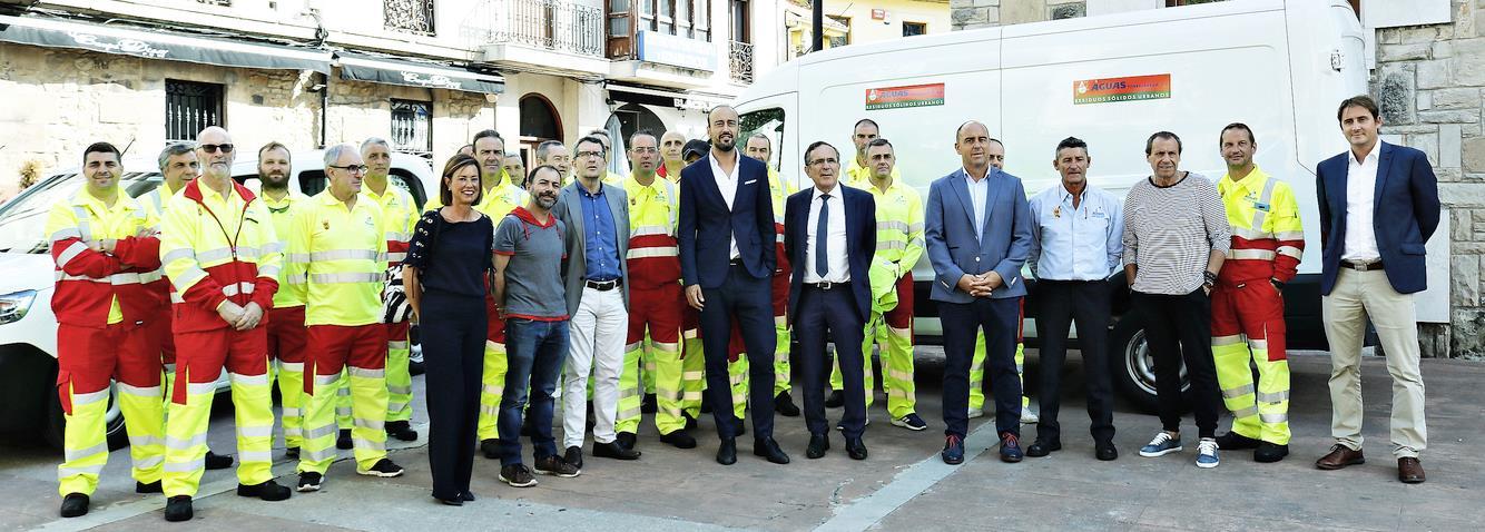 Recibidos en el Ayuntamiento los trabajadores del servicio municipal de recogida de residuos