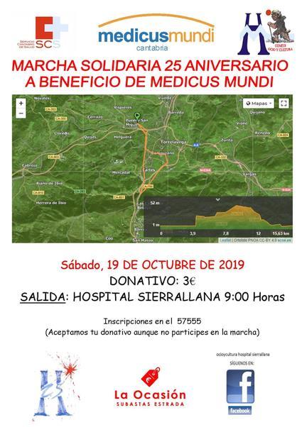 Marcha solidaria dentro de los actos del 25 aniversario del hospital Sierrallana