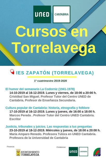 Nuevos cursos de UNED Cantabria en Torrelavega