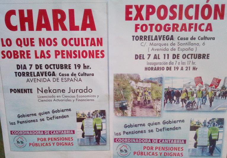 """Torrelavega acogerá la charla """"Lo que nos ocultan sobre las pensiones"""""""