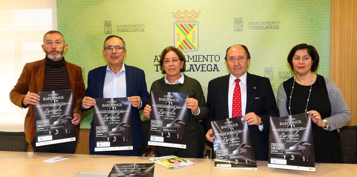 """El Teatro Municipal Concha Espina acogerá """"Los tres barítonos"""", acto solidario a favor de AFA Cantabria"""
