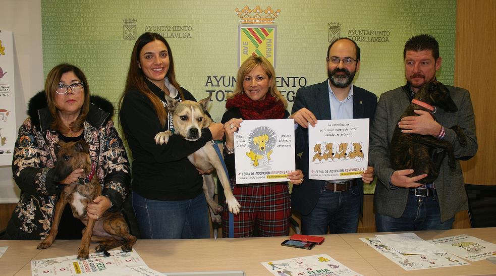 La IV Feria de Adopción Responsable reunirá este domingo un centenar de perros abandonados en Torrelavega
