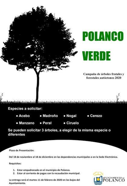 El Ayuntamiento inicia la campaña de reforestación 'Polanco verde'