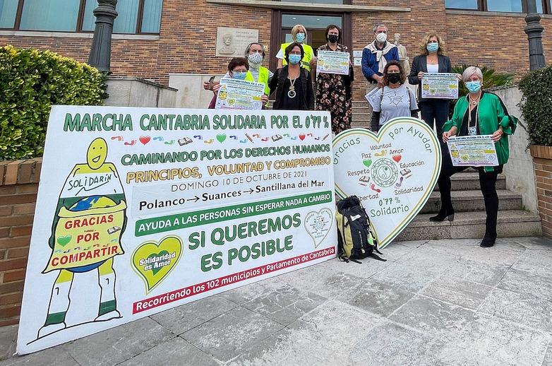 La Marcha Cantabria Solidaria por el 0,77 recorrerá Polanco, Suances y Santillana del Mar